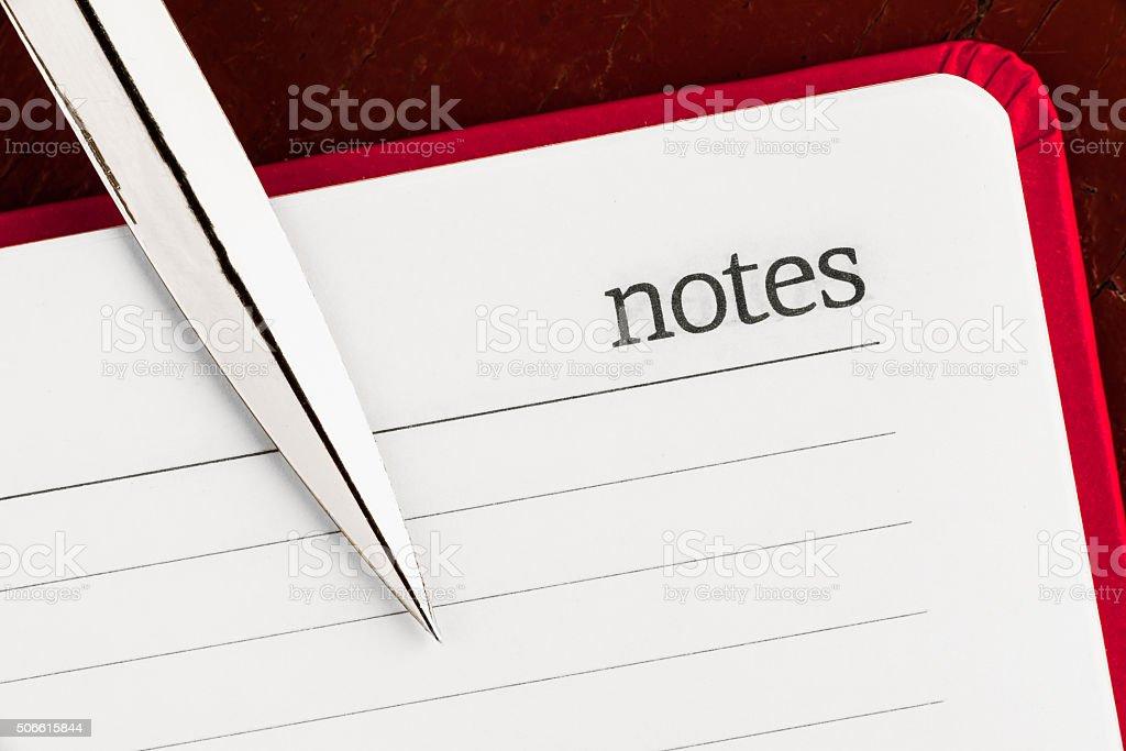 Corner of notepad stock photo