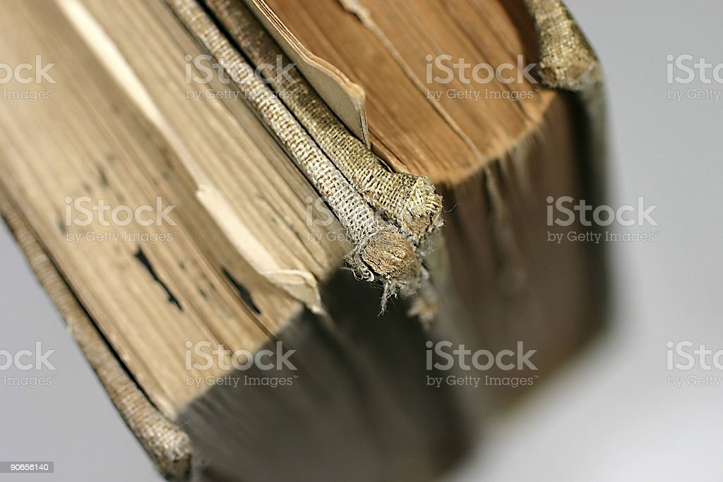 corner of old books royalty-free stock photo