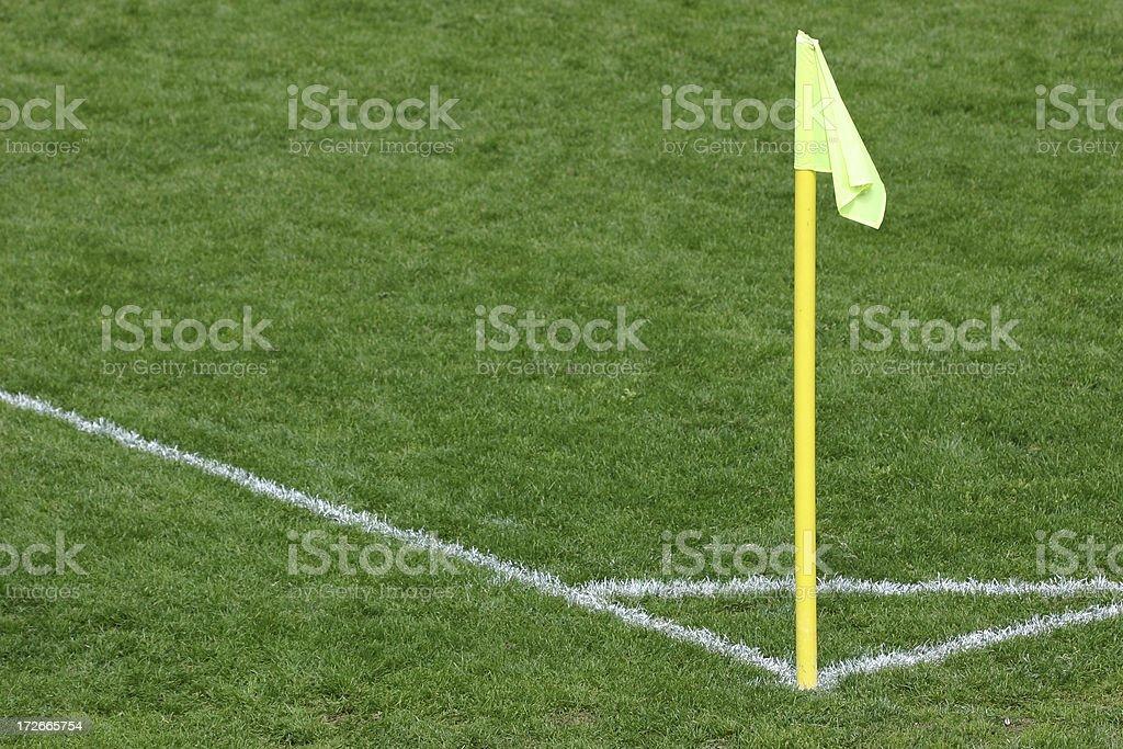 Corner of soccer field stock photo