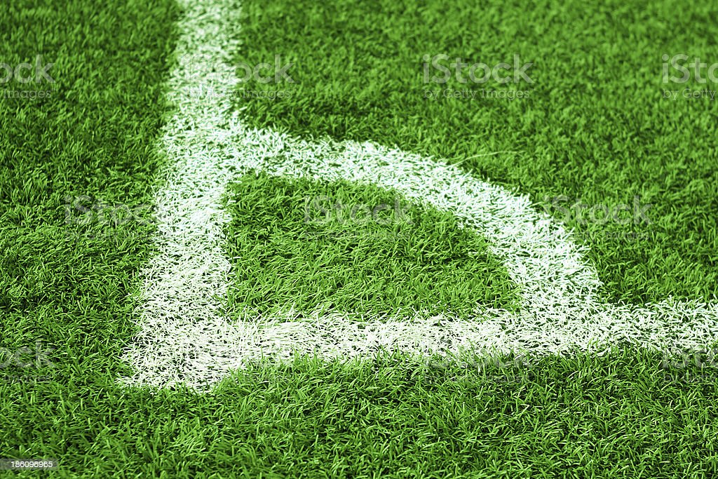 corner of soccer field royalty-free stock photo
