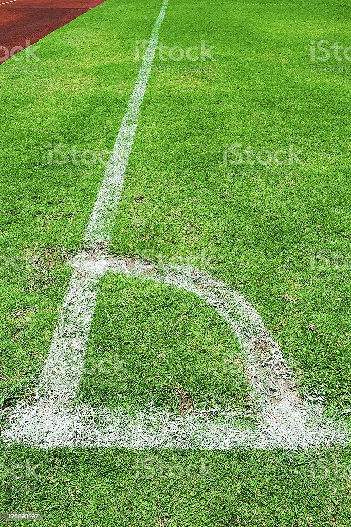 Corner of soccer royalty-free stock photo