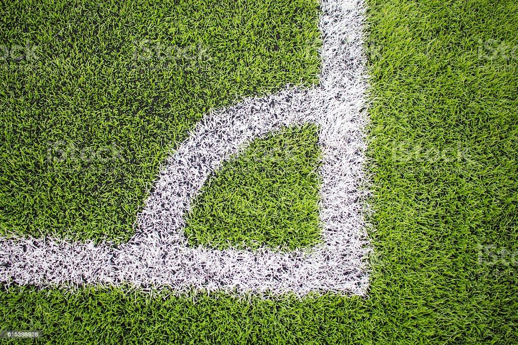 Corner of the Artificial turf football, Soccer field vector art illustration