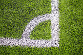 Corner of the Artificial turf football, Soccer field