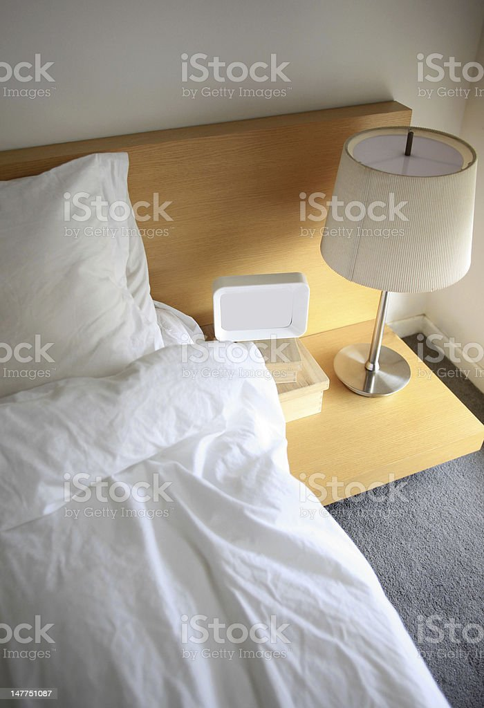 Corner of the bedroom bed royalty-free stock photo
