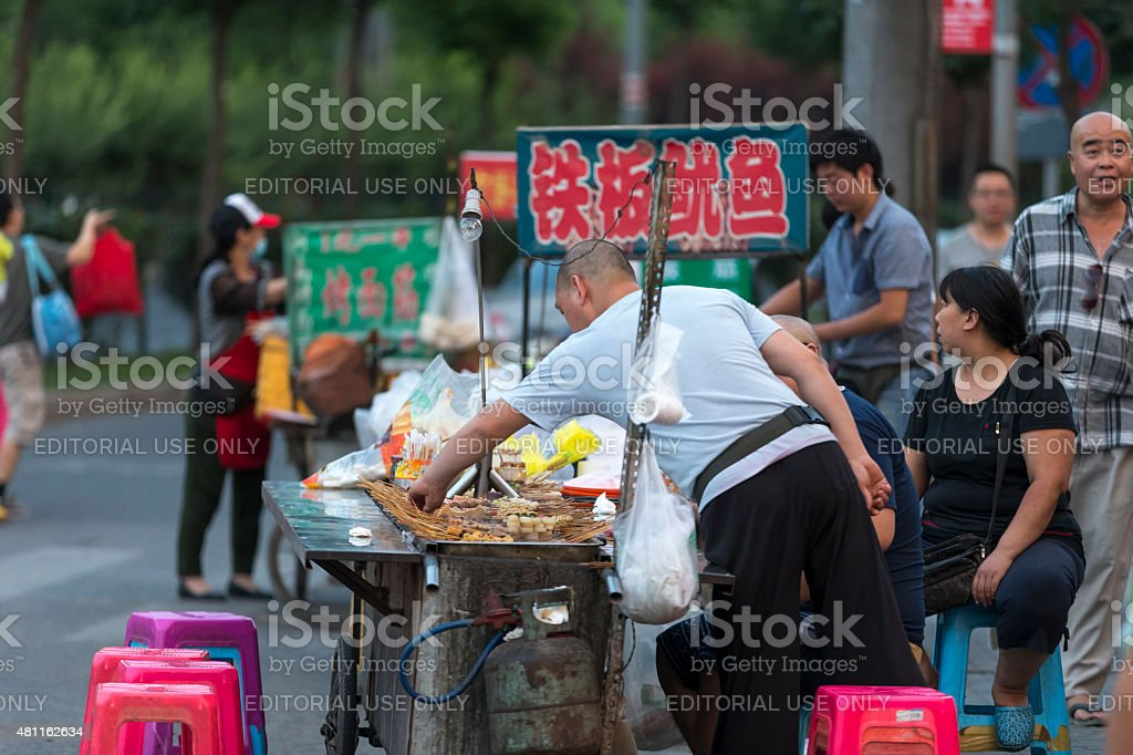 Corner of the street in Beijing Residence area stock photo