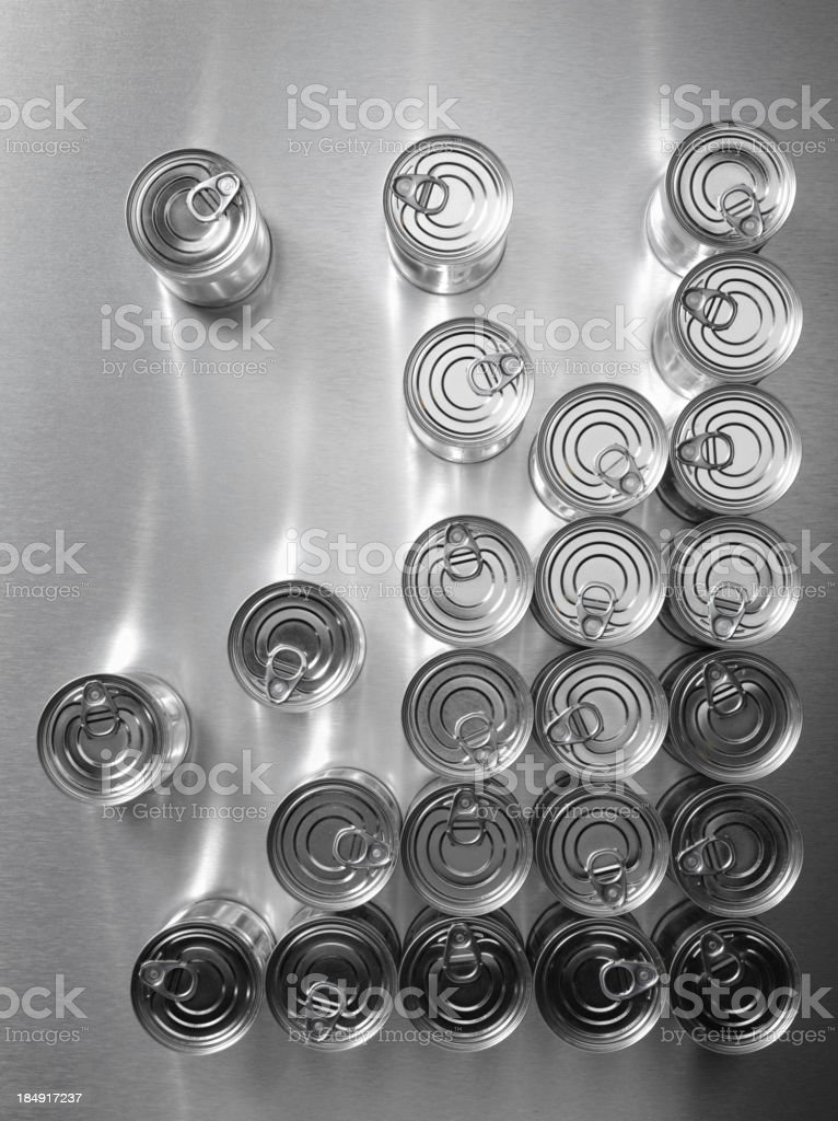 Corner of Tin Cans royalty-free stock photo