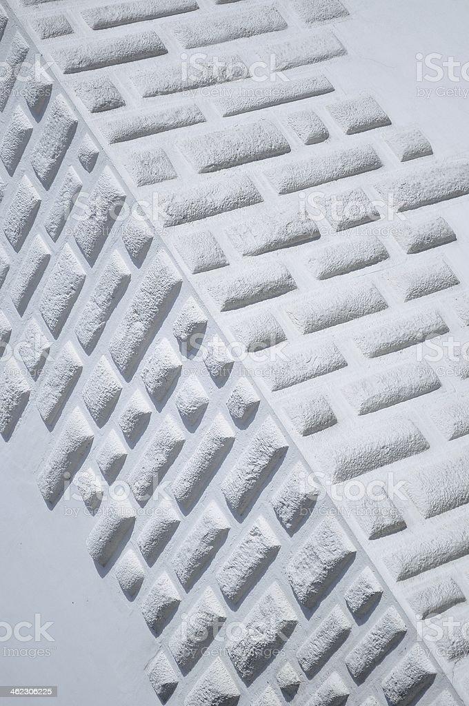 Rogu ściany z cegieł biały urządzone zbiór zdjęć royalty-free