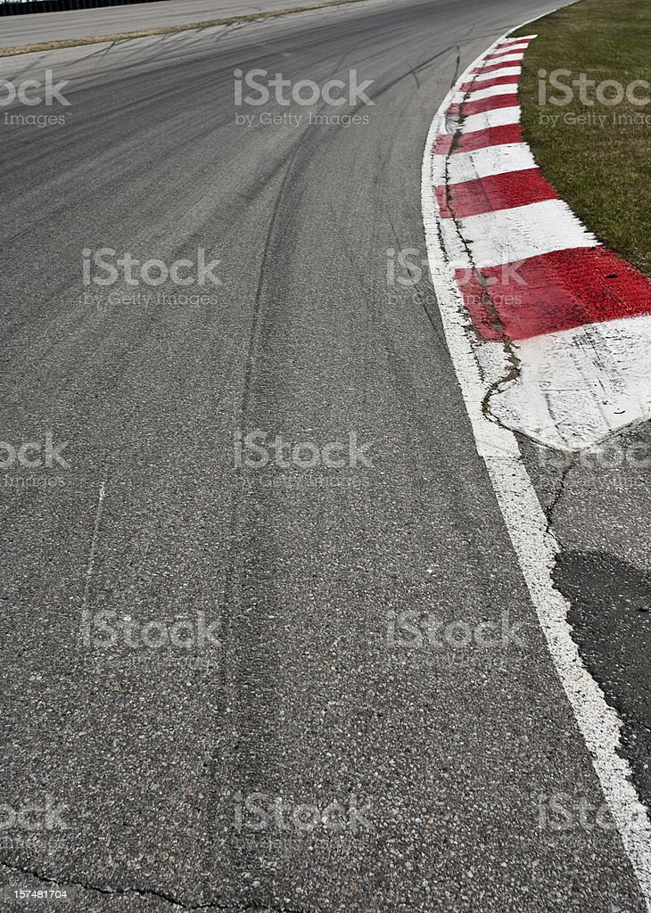 Corner on a car race track royalty-free stock photo
