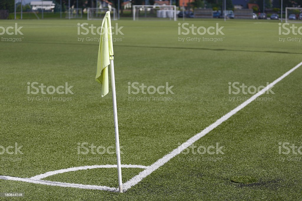 Corner on a soccer field royalty-free stock photo