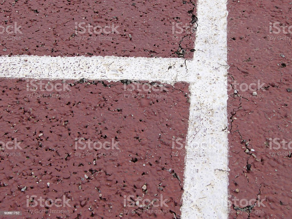 Corner on a Tennis Court royalty-free stock photo