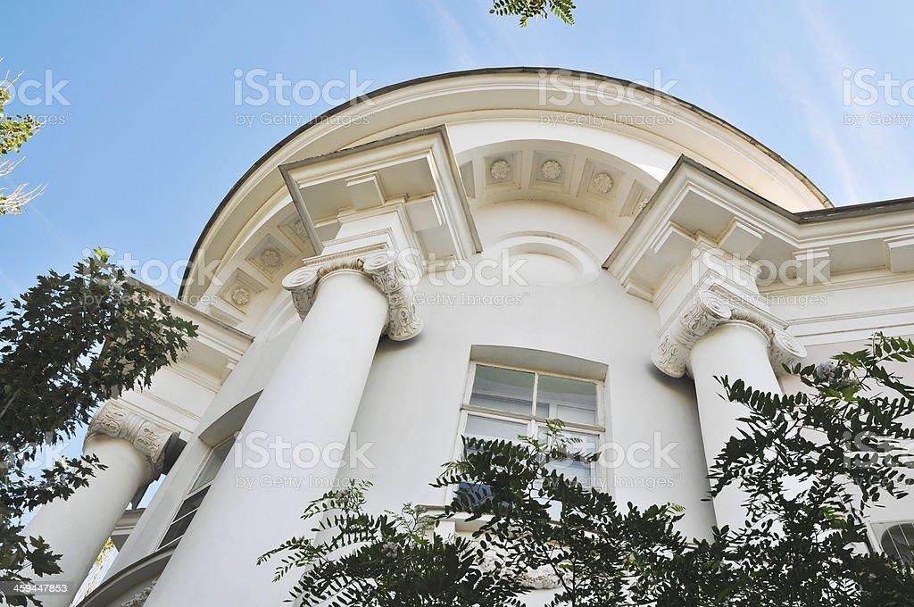 Corner semi-rotunda. royalty-free stock photo