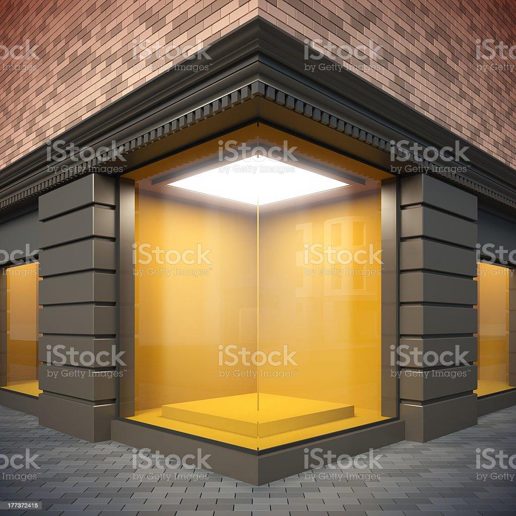 Corner showcase. stock photo
