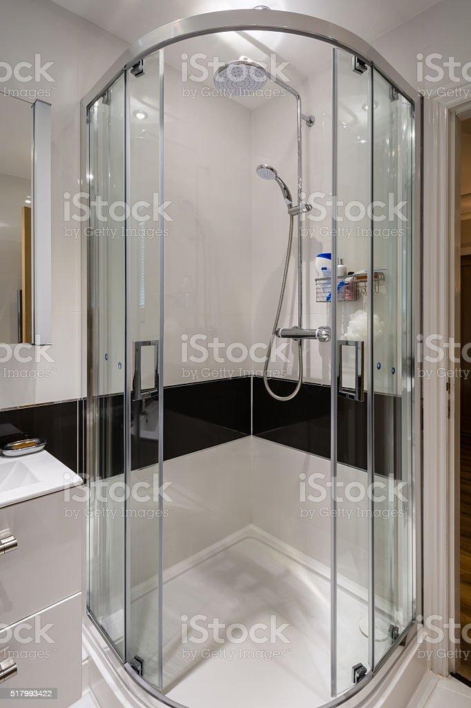 Corner Shower Cubicle stock photo
