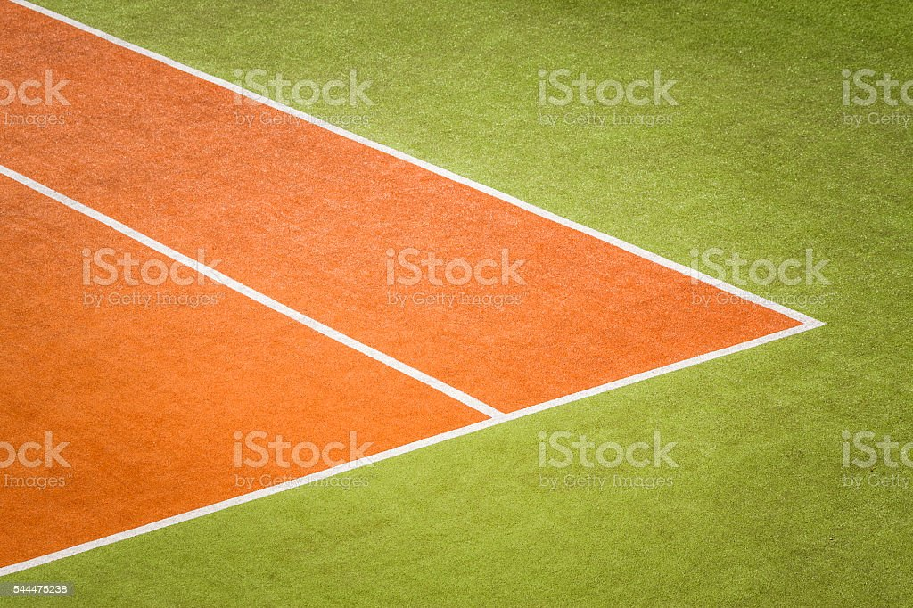 Corner Tennis Field Texture stock photo