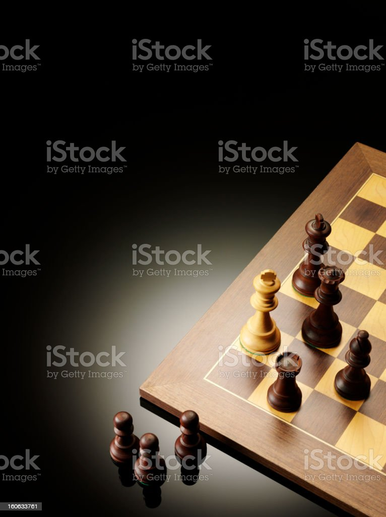 Cornered in a Game of Chess stock photo