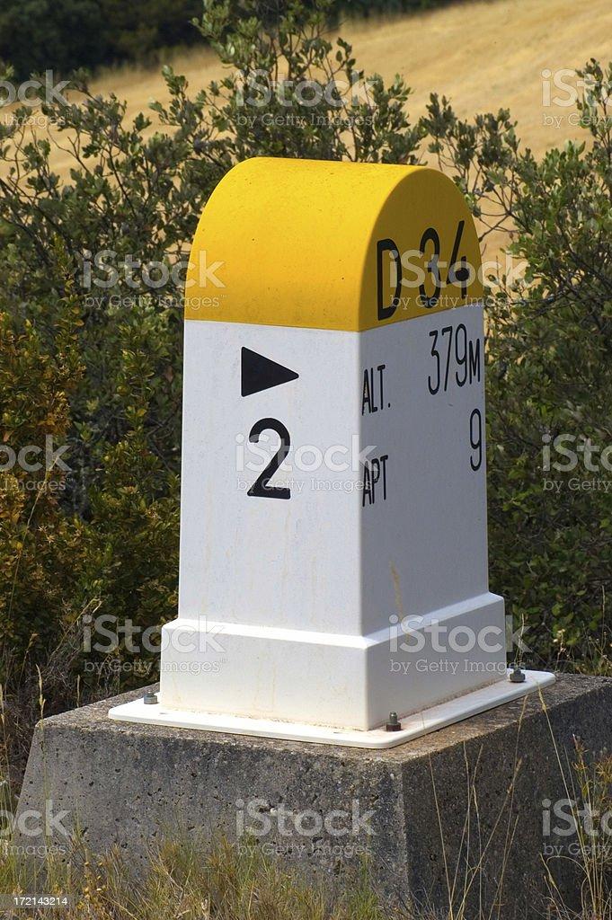 Cornerstone in  France stock photo