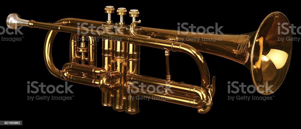 cornet on black royalty-free stock photo