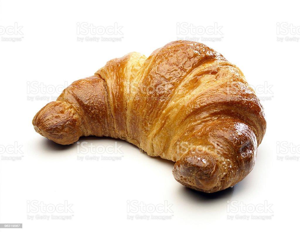 Cornetto bread against white background stock photo