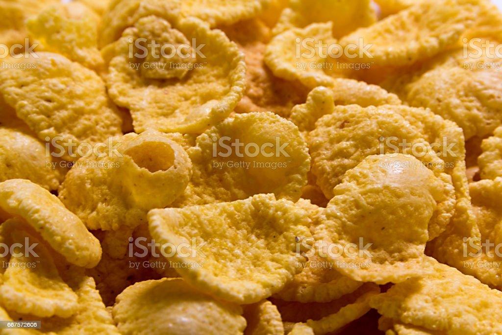 cornflakes background texture stock photo