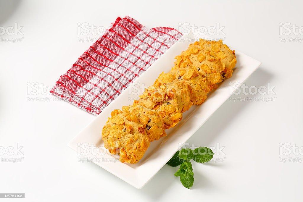 cornflakes cookies royalty-free stock photo