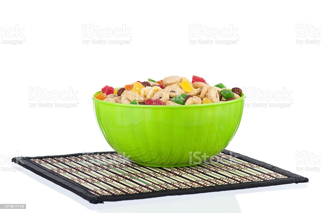 Cornflakes in bowl royalty-free stock photo