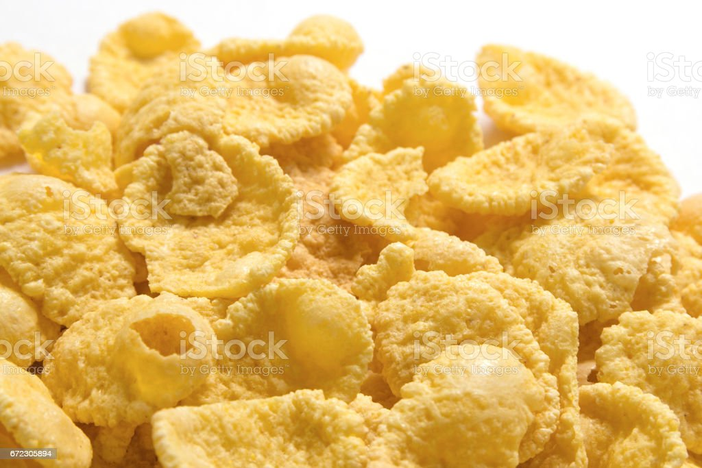 Cornflakes on a white background stock photo