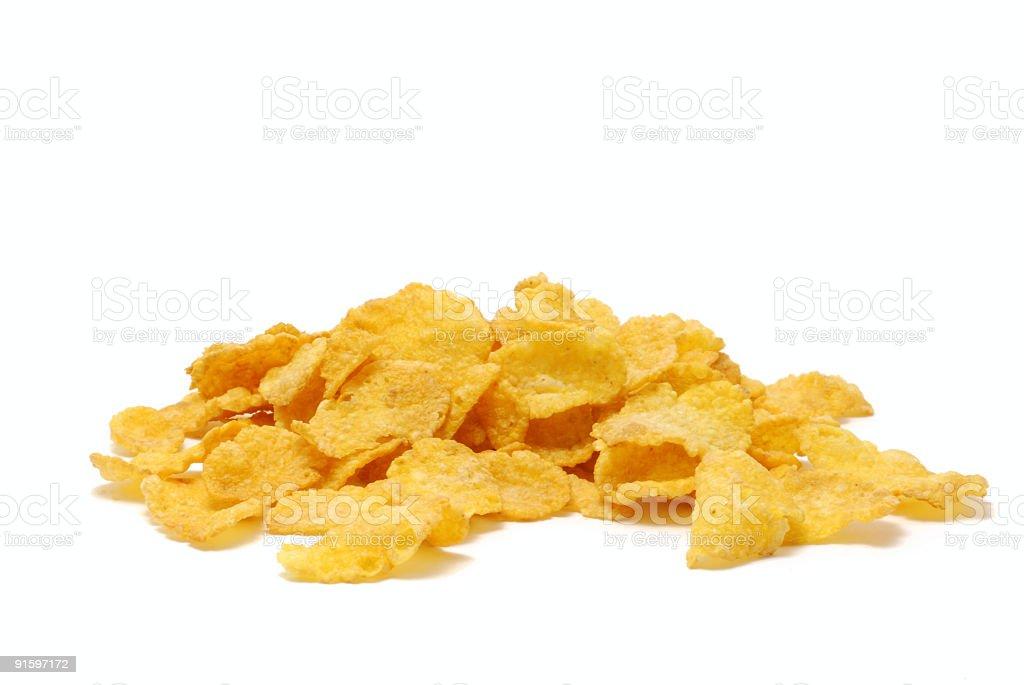 Cornflakes on white stock photo