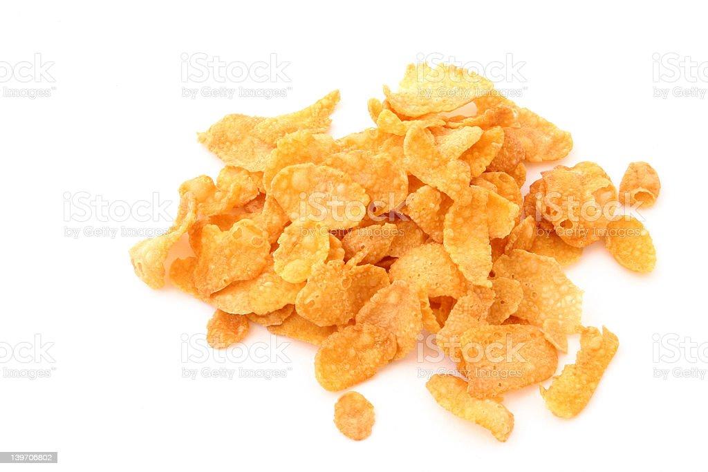 cornflakes pile on white stock photo