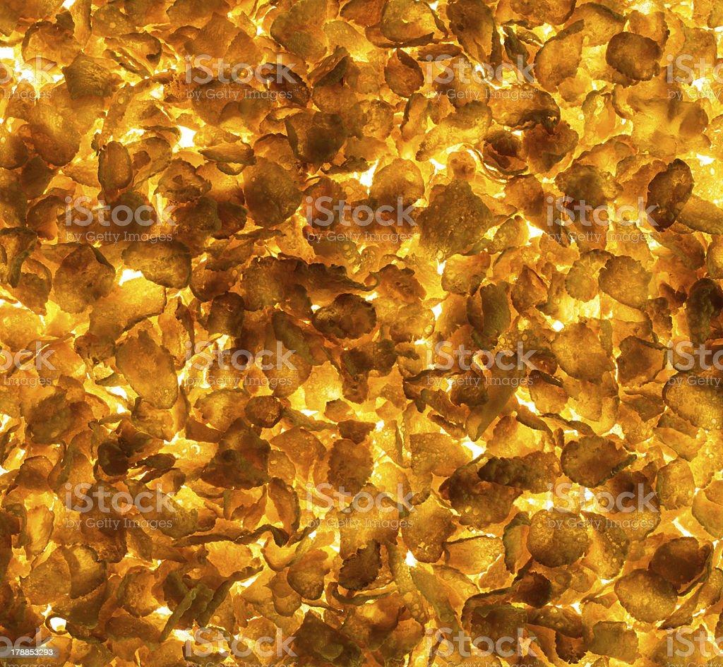 Cornflakes Texture royalty-free stock photo