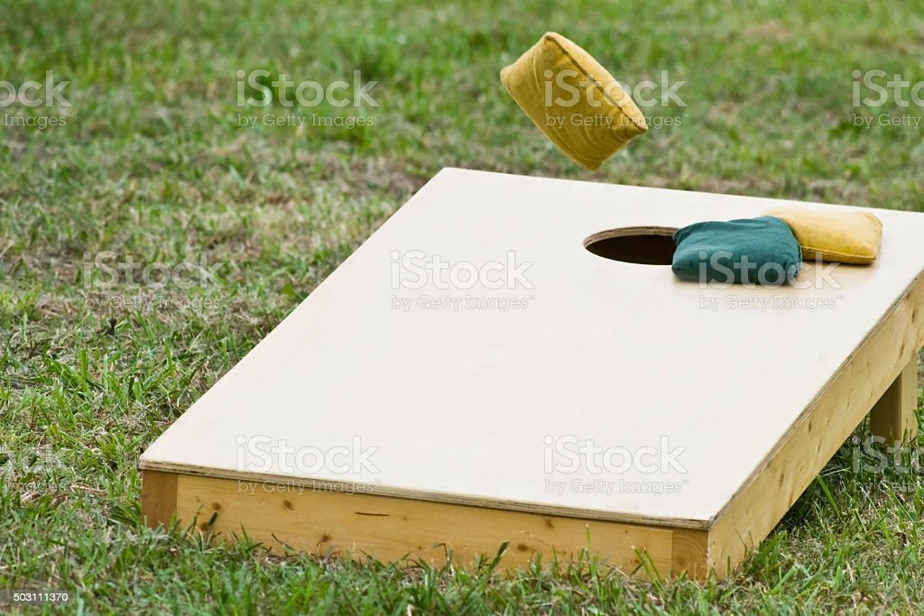 Cornhole Game stock photo