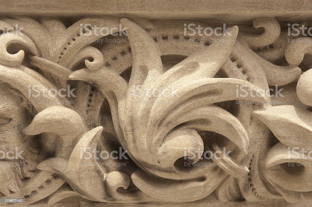 Cornice carving royalty-free stock photo
