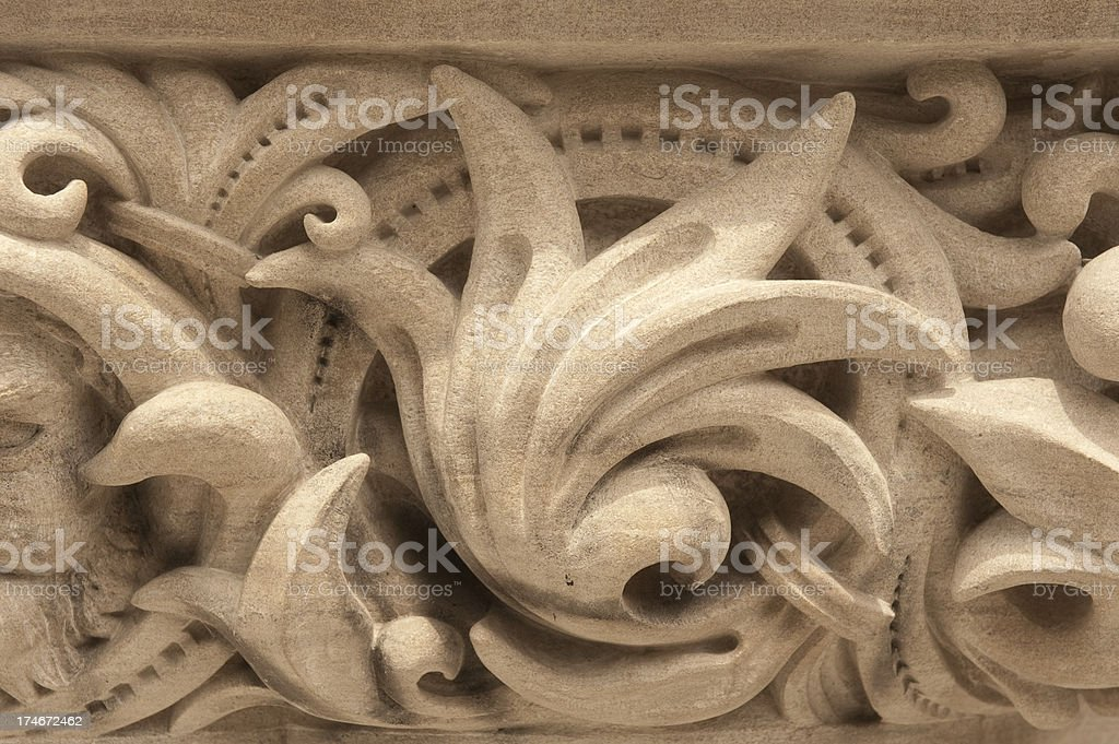 Cornice carving stock photo