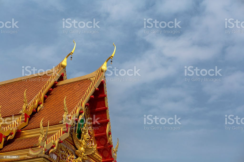 cornice of a Thailand temple stock photo
