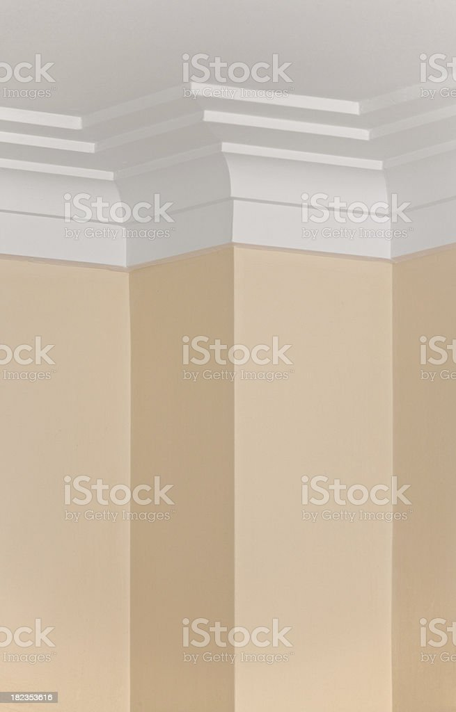 Cornice Plaster Moulding royalty-free stock photo