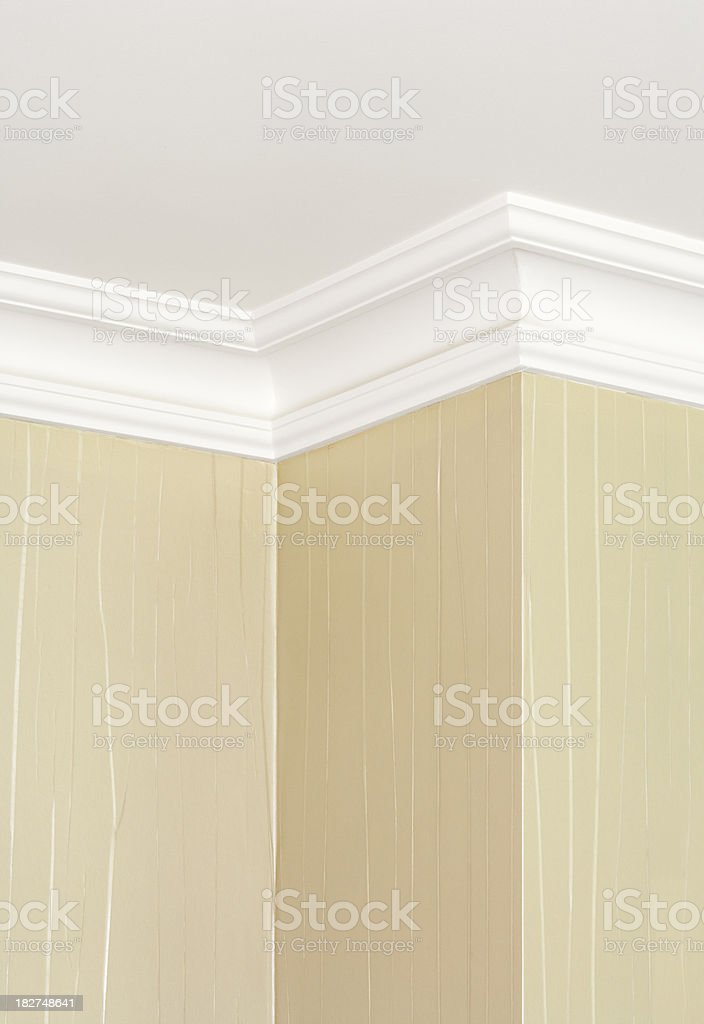 cornice traditional style stock photo