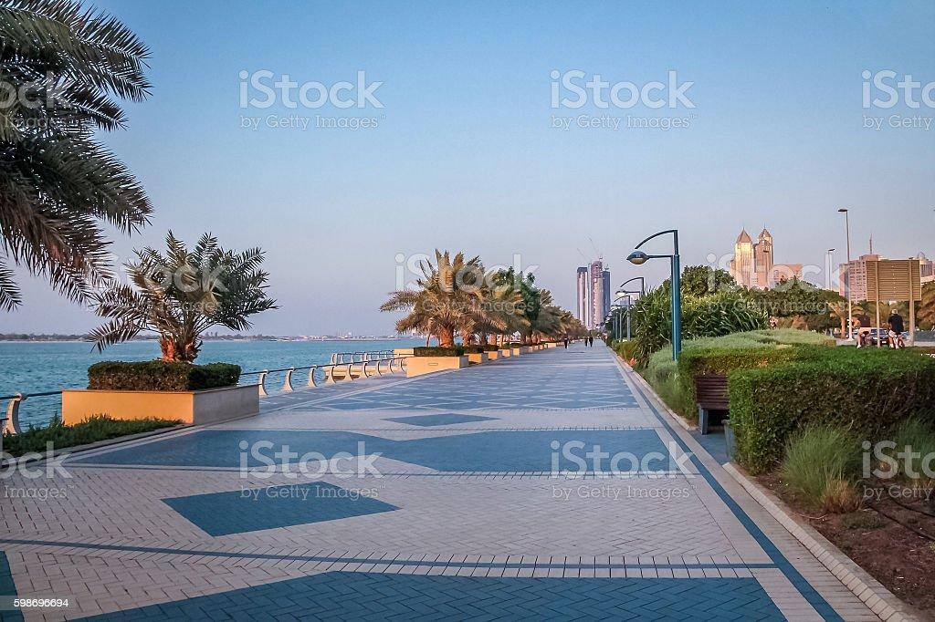 Corniche - Abu Dhabi, United Arab Emirates stock photo
