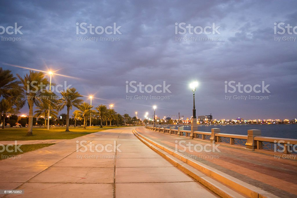 Corniche in Dammam stock photo