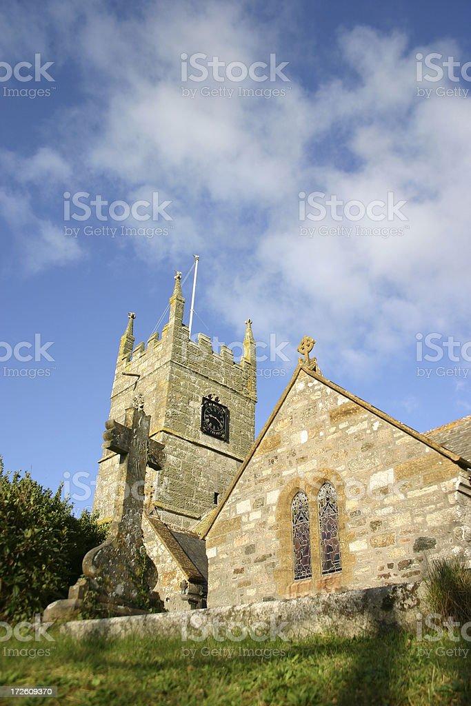 Cornish Church stock photo