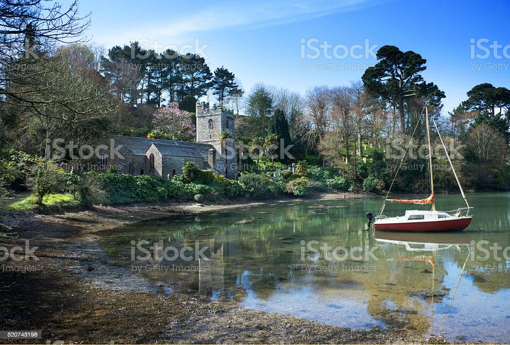 Cornish Church stock photo