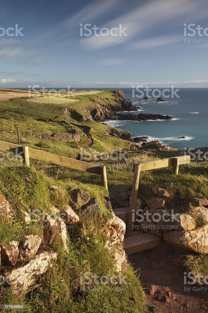 Cornish Coast Path stock photo