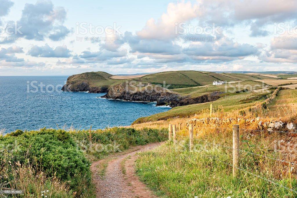 Cornish Coast Path stock photo