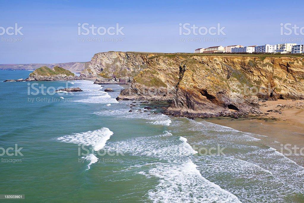 Cornish côte photo libre de droits