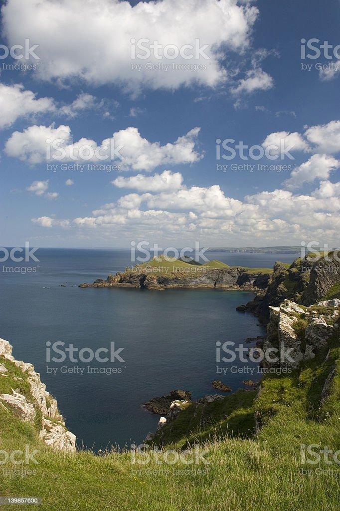 Cornish coastline royalty-free stock photo