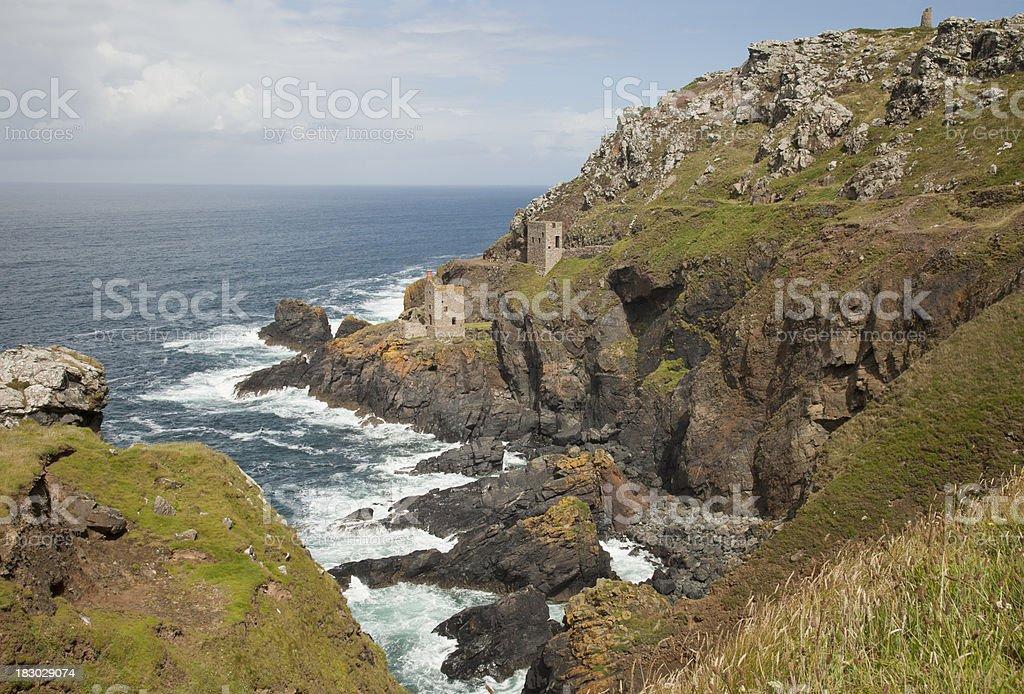 Cornish Coastline stock photo