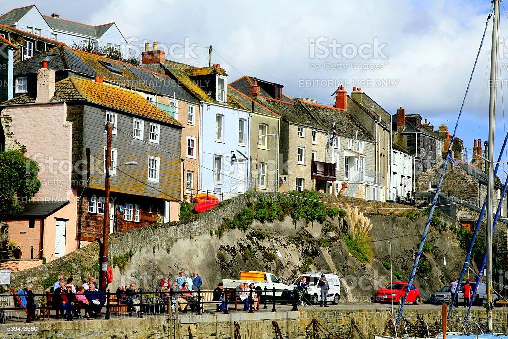 Cornish cottages. stock photo