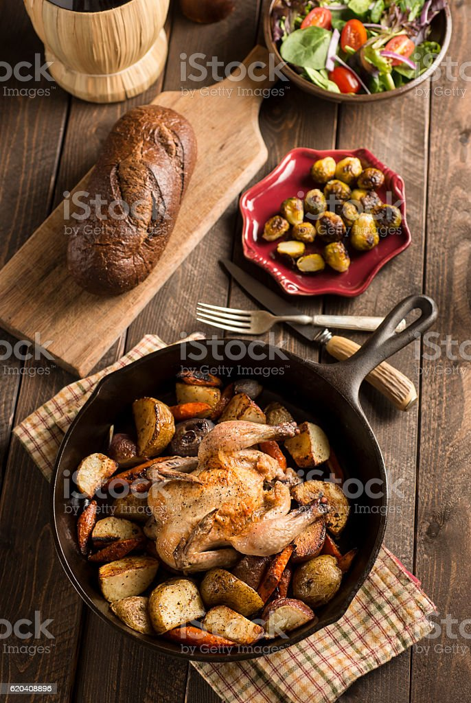 Cornish Game Hen stock photo