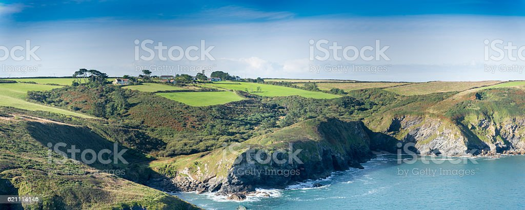 Cornish landscape stock photo