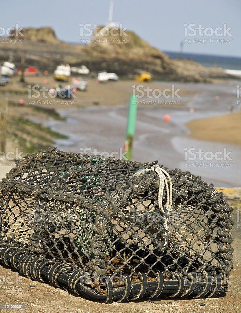 Cornish lobster pot stock photo