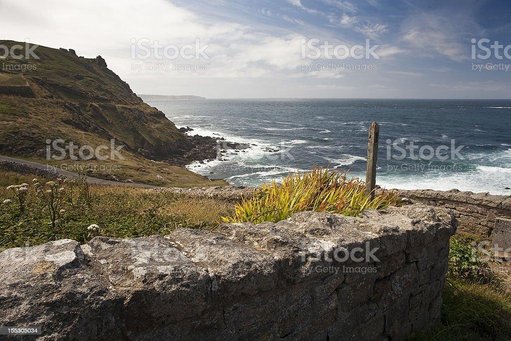 Cornish seascape stock photo