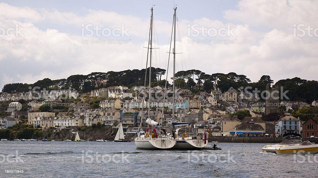 Cornish Seaside Town stock photo